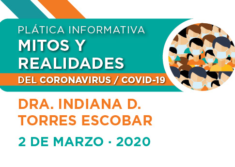 El Departamento de Servicios Médicos invita a la plática: Mitos y realidades del Coronavirus.