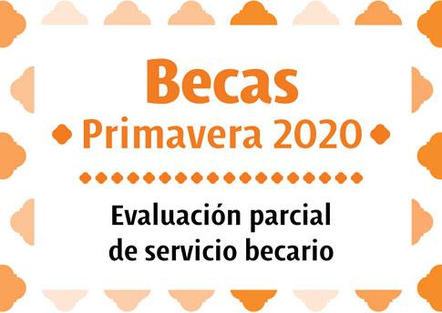 Evaluación parcial de servicio becario Primavera 2020.