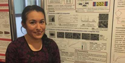 ADRIANA SIERRA ROMERA, ALUMNUS OF THE LICENCIATURA IN NANOTECHNOLOGY AND MOLECULAR ENGINEERING, CLASS 2015.